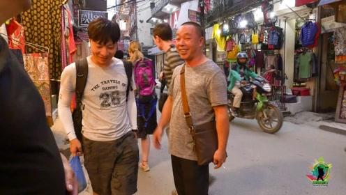 在尼泊尔街头,大明被两拨观众认出来!异国遇同胞都特别高兴