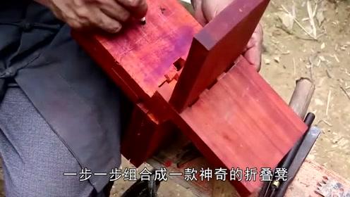 """中国61岁大爷做""""鲁班凳"""",火遍中外媒体,网友:别人家的爷爷"""