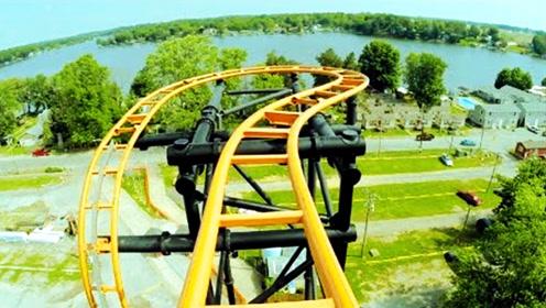 美国最疯狂的过山车,时速高达65公里,120度旋转让你找不到北!