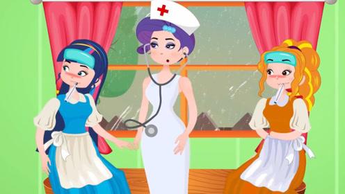 哥俩下雨天玩耍,引得生病的妹妹很羡慕,不料最后都发高烧!