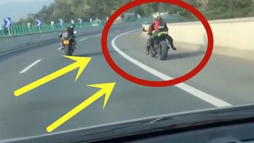 高速路上偶遇川崎,骑摩托车也就算了,还这么嚣张,谁给你这么大的勇气?