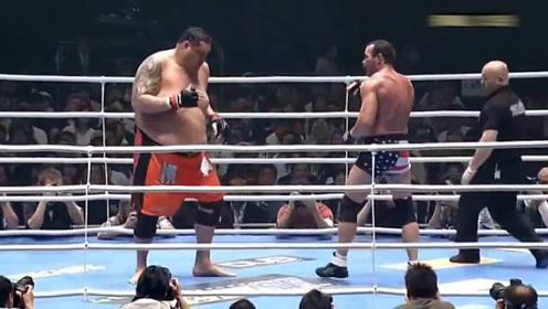 日本拳击手挑战相扑手,观众看到最后直接汗颜
