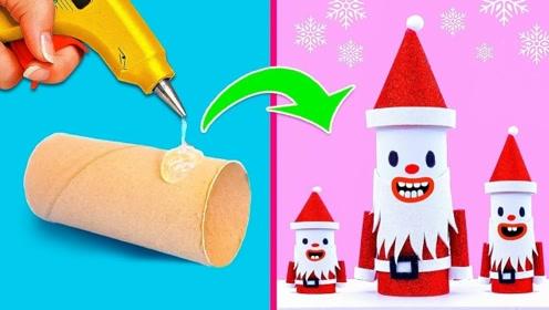 给芭比娃娃一家做漂亮的圣诞节装扮,简单好玩,创意手工DIY