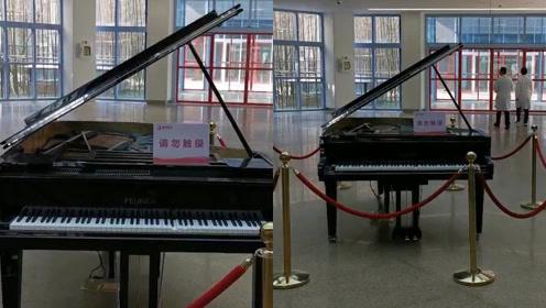 别人家的医院!为缓解患者情绪,医院大厅放自动演奏钢琴