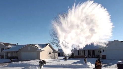 世界上最寒冷城市,最高温度差能达到100度,开水泼到空中瞬间冻结