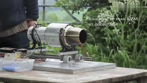 迷你版喷气式发动机!这声音太魔性!