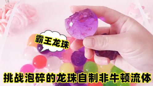挑战泡碎的霸王龙珠自制非牛顿流体,无硼砂,还有回弹效果超好玩