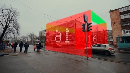 """全球最犀利""""红绿灯"""",红绿灯变成一道墙,老司机还敢乱闯?"""