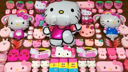 粉色凯蒂猫系列混泥,无硼砂,得到漂亮又好捏的泥巴