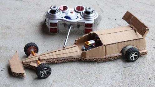 2个极具有创意的玩具车,在家也能自己做,也太简单了