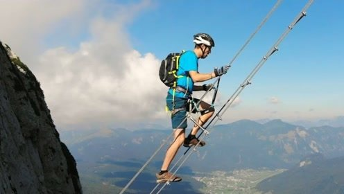 极限挑战攀岩!爬上700米的楼梯,底下就是万丈深渊!