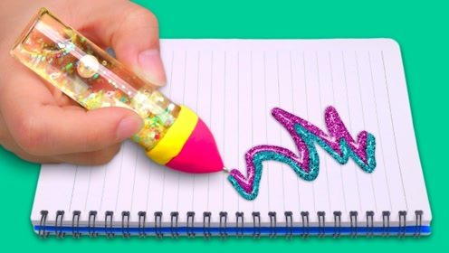 DIY创意文具,圆珠笔简单改造一下,既实用又好看,实在太美了