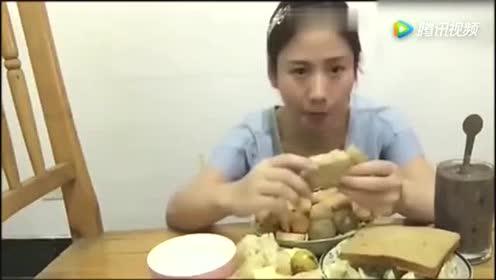 吃播大胃王成为网红的艰难时期!刚开始条件非常艰苦!
