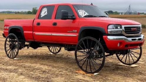 小伙把马车车轮装到汽车上,油门一脚踩下去,结果出乎意料!