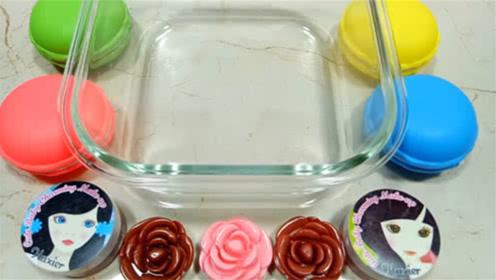 DIY史莱姆,小仙女化妆品,彩色水晶泥,花瓣泥,超解压好玩