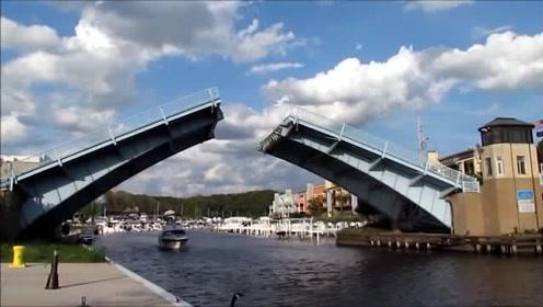 能变形的大桥,太神奇了,设计者简直就是天才