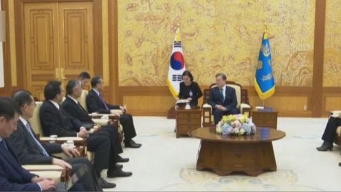 韩国总统文在寅会见王毅 称韩中对话合作将有助东北亚安全稳定