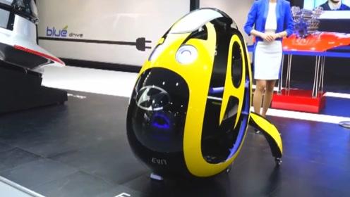 外国小伙子发明了鸡蛋壳电动车,站上去就可以跑,一辆只需要两万块