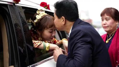 广东亿万富豪嫁女,舍不得漂亮女儿,这场景太感人第一次见