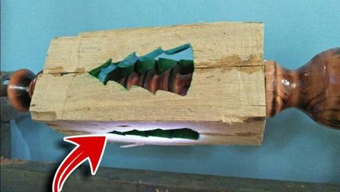 看似普通的木头,搬上车床加工制作后,成品太赞了!