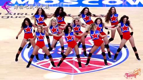活力无限!俄罗斯啦啦队女孩的开场舞,每一秒都很精彩