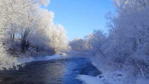 库尔滨河零度以下不封冻,雾凇美景持续120天如人间仙境