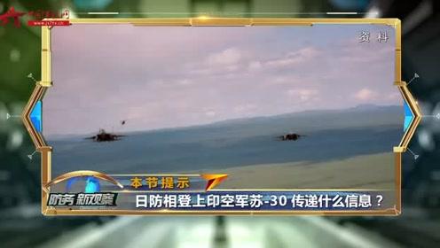 """日本防相登上印度苏-30战机 李莉直呼""""太震撼 太滑稽"""""""
