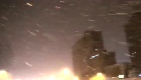 2019年北京入冬的第一场雪,大美北京雪花飘飘真美,一起来欣赏吧