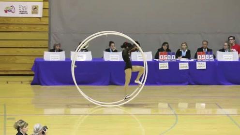 世界体操锦标赛,女孩与铁环,不一样的体育之美