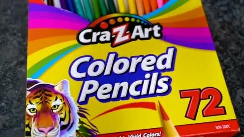 彩色铅笔能变成颜料吗?老外亲自试验,结果出人意料