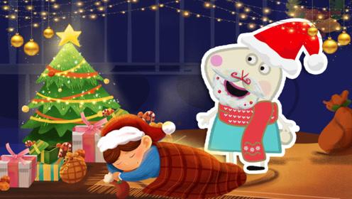 瑞贝卡假扮圣诞老人送礼物 吸引来了好多小朋友排队 差点把家里的东西送空