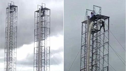 国外神人一掌击破5层楼高的瓦片 网友:内力太强大了