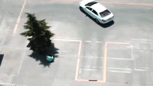 说好的倒车入库,直接停人家车位去了,不得不佩服!