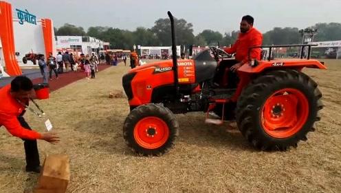 畅销印度的日本拖拉机,稍微展示了下性能