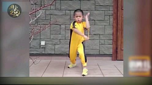 迷你版李小龙!5岁萌娃不好惹 拳腿功夫一流单手俯卧撑不在话下