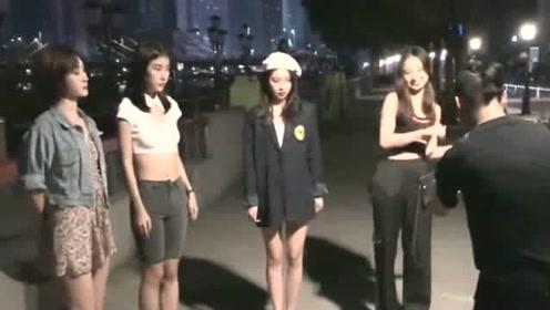 偶遇小姐姐们拍视频,这样想表演绝活吗,看起来非常的有才艺!