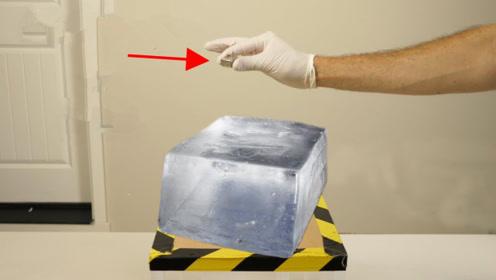 用冰块能生火吗?将金属钠和冰块放一起,发生了有趣的科学现象