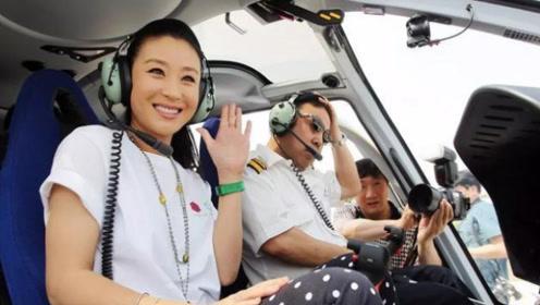 中国第一位拥有飞机驾照的女明星,座驾都是老古董,网友:比飞机还贵