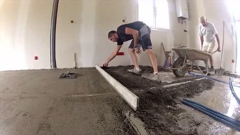 外国人都是这样室内铺水泥地的吗?厉害了