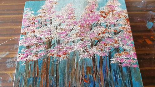 每日一画,简单又漂亮的樱花画