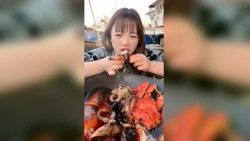 海鲜吃播:热乎八爪鱼开锅