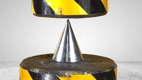 铁锥子能把500吨液压机穿透吗?场面瞬间失控,带你眼见为实!