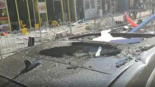 广州宵夜档煤气爆炸追踪:路过车辆天窗被砸碎,车主被吓懵