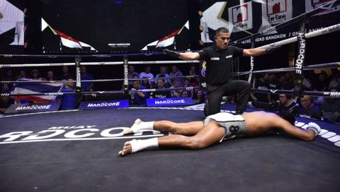 2019年最佳腿法KO,闪电一腿打的对手猝不及防,痛苦倒地