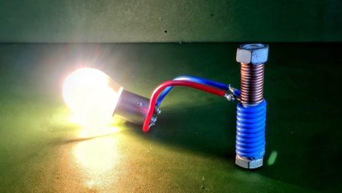 磁铁与铜丝碰撞结合的产物!