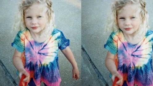 霉霉晒童年照庆30岁生日,身穿印花娃娃裙乖巧可爱,露出无忧无虑的笑容