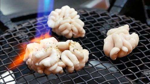 日本土豪最爱的鱼部位,讲究用火烧到3分熟,淋上酱油就进嘴