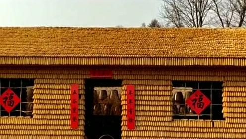 真正的黄金屋金屋藏娇发源地,纯玉米打造的房子漂亮吧,网友:用了多少玉米
