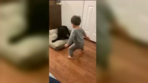 狗子:做小孩不能太过分,你已经吓我两次了!