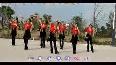 靖江季市公园曼玲广场舞 1+1=我爱你